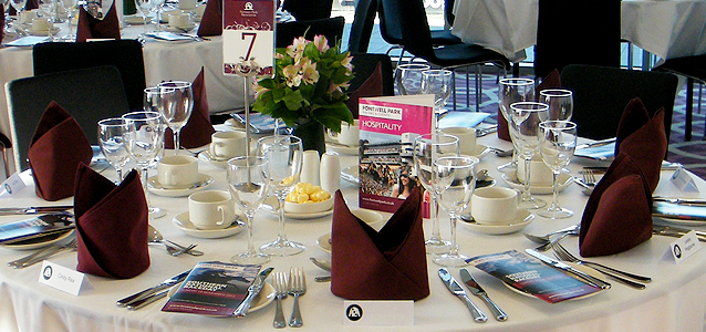 Racecourse hospitality events at many British racecourses