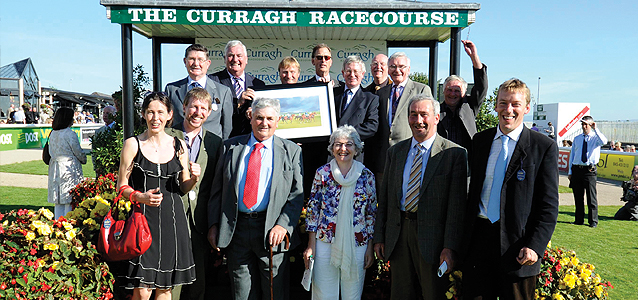 Club Members with Roger Charlton at Curragh