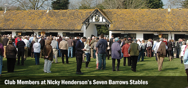 Club Members at Nicky Henderson's Seven Barrows Stables