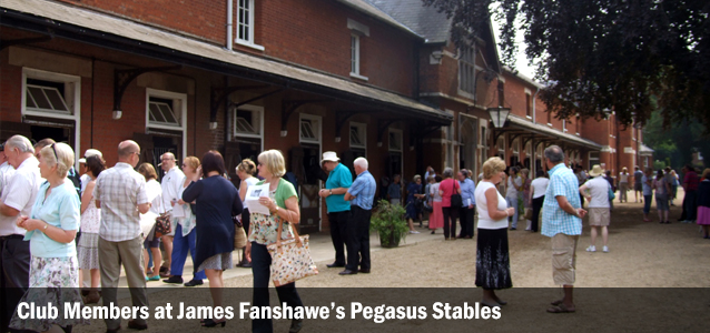 Club Members at James Fanshawe's Pegasus Stables