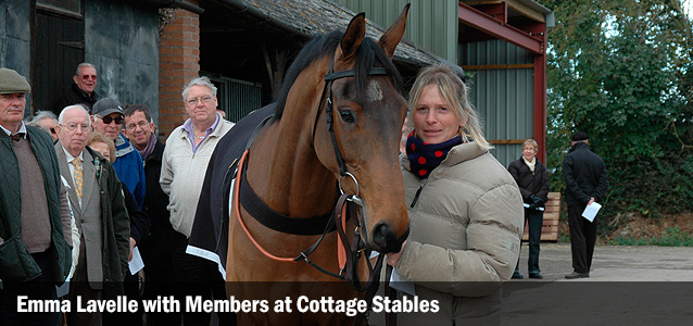 Emma Lavelle with Member's at Cottage Stables