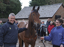 Donald McCain with Member's at Bankhouse Stables